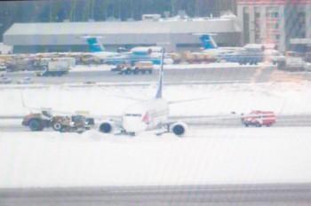 В «Шереметьево» вылетавший в Прагу самолет выкатился за пределы ВПП