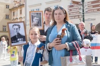 В Праге состоялось шествие «Бессмертный полк»: видео