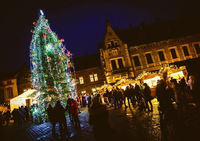 На Пражском Граде зажгли рождественскую ёлку