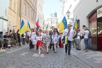 В центре Праги пройдет украинский марш вышиванок